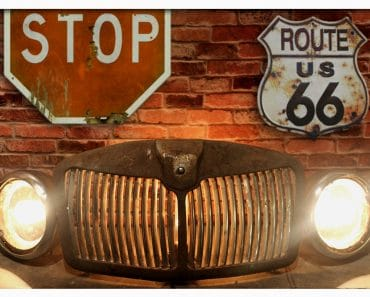 Repurposed Vintage Automobile Circa 1960's MGA Roadster Car Grill