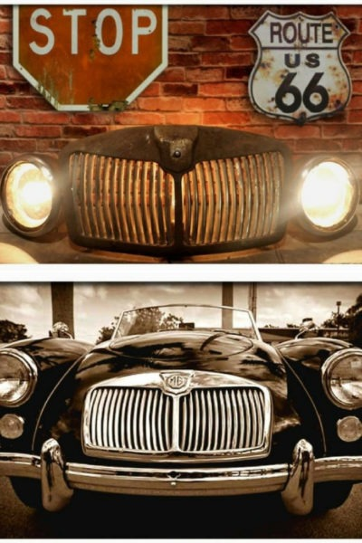 Rustic Vintage Automobile Car Grill Floor Lamp