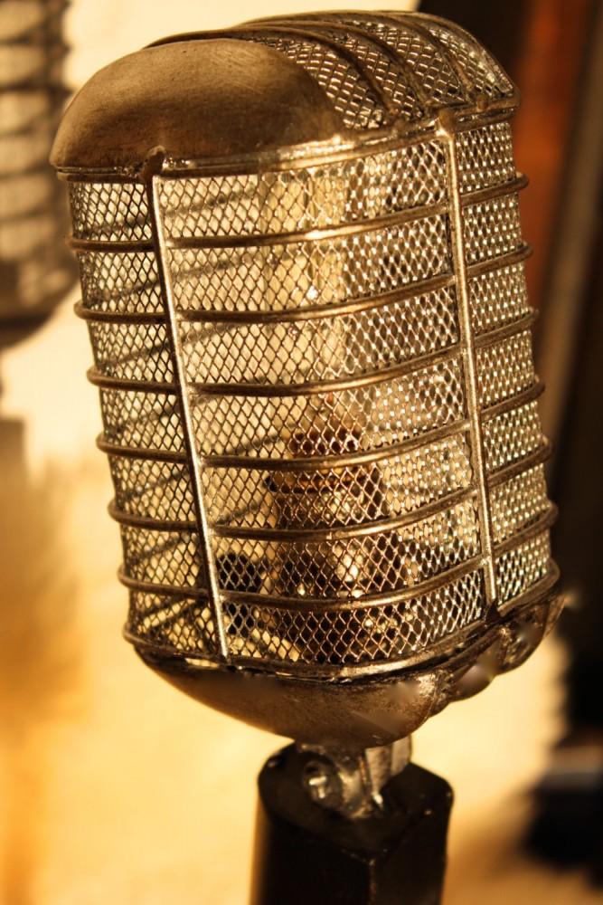 Vintage Microphone Light Fixture - table-lamps