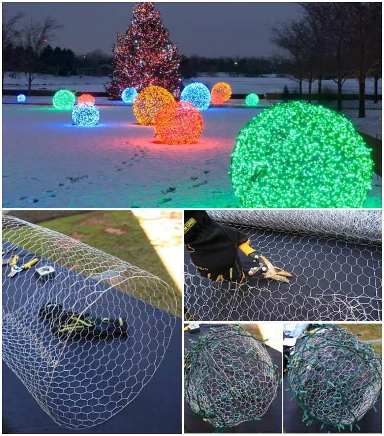 Outdoor Lighting: How to Make Christmas Nice Light Balls! - outdoor-lighting