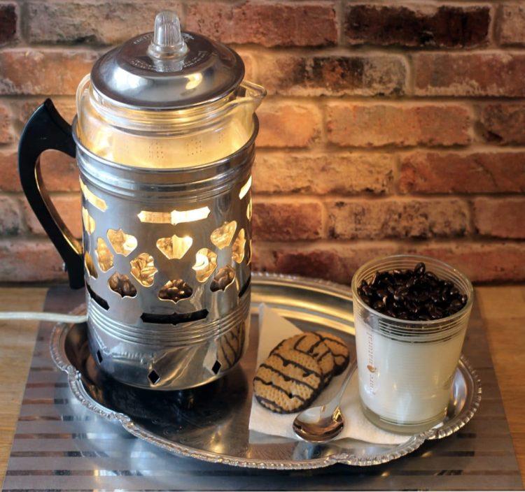 "Re-purposed Froman ""Coffee Maid 4 Man"" Pyrex Perculator Coffee Pot"