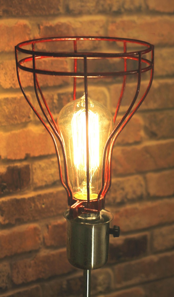 Re-purposed 24 Glass Jar Industrial Table Lamp Table Lamps