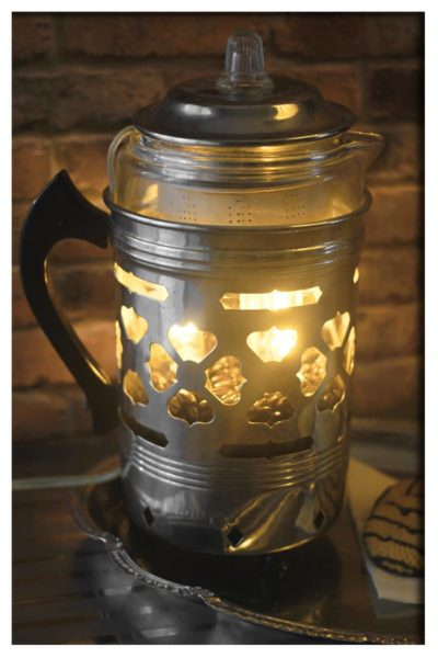 Re-purposed Froman Coffee Maid 4 Man Pyrex Perculator Coffee Pot