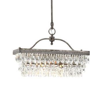 Clarissa Rectangular Glass Drop Chandelier Id Lights