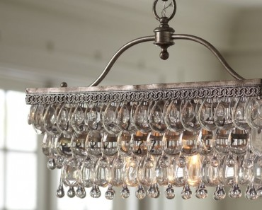 Clarissa Rectangular Glass Drop Chandelier