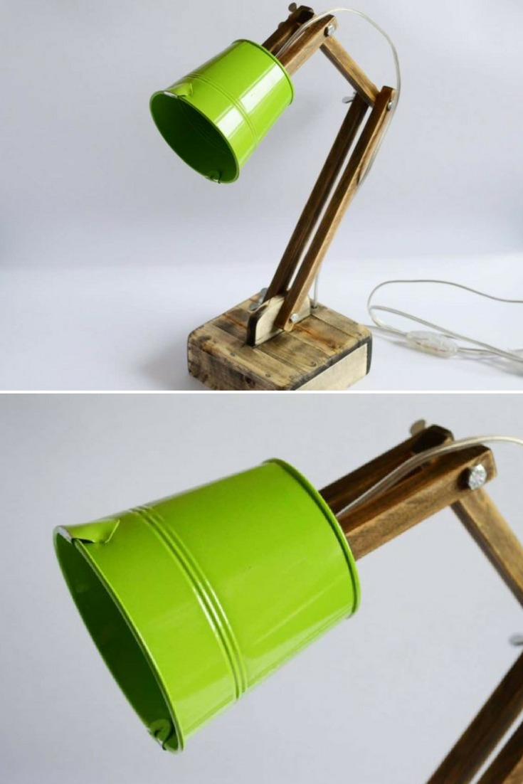 Unique, color accent wooden lamp made of solid lime wood and metal shade. Especially for you as an accent for your home, it will give new meaning to the concept of light. Use the lamp as a faithful helper in the work, resting with a book or simply as a stylish decoration for your home. To make it, they have used a piece of high-quality wood as they have tried to preserve it\'s authentic form. #desklamp #handmadelighting #lamp #lampshade #lighting #lightingdesign #reading #woodlamp #woodworking