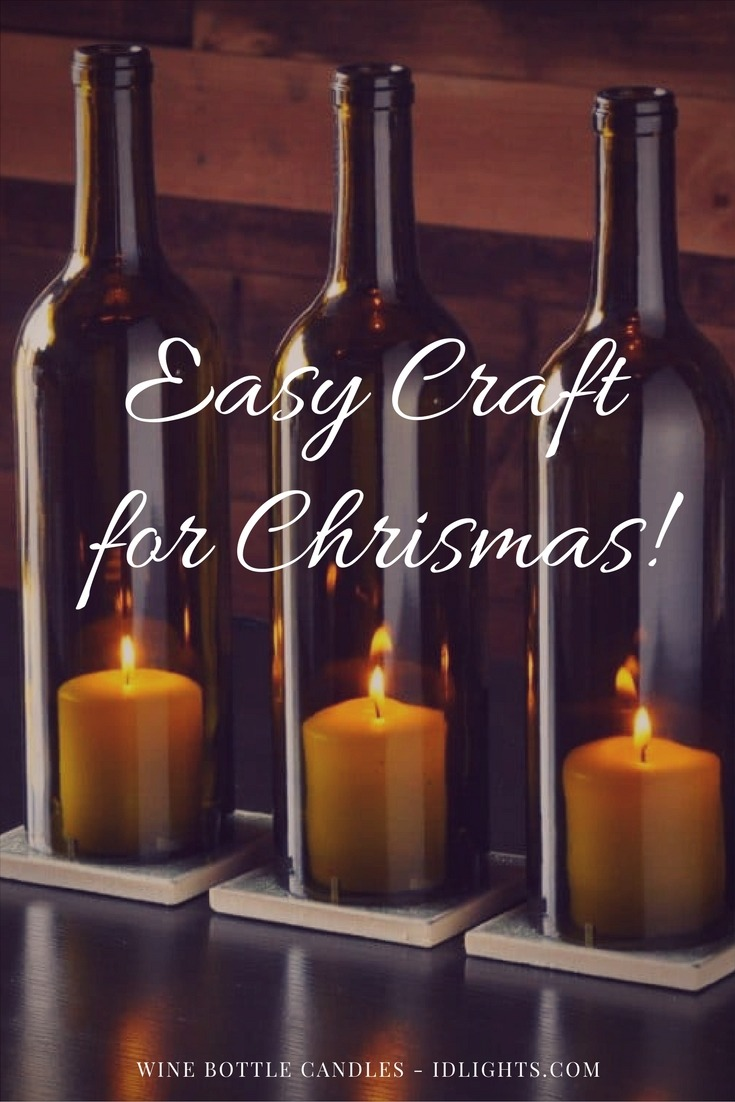 Easy Table Lamp Crafts For Christmas Candle In A Wine