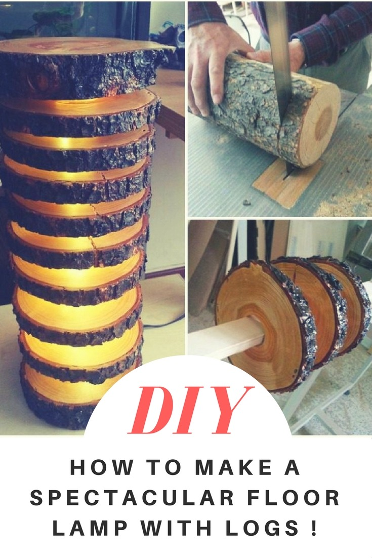 How to make a spectacular log lamp? You may have wood logs available around you, or maybe a wood part too big to put in a fireplace. Make this amazing wood floor lamp as indoor or outdoor lighting! This great tutorial will help you in all stages, the guide is easier than it sounds. #log #woodlamp #lighting #floorlamp #diy #farmhouse #rustic #woodworkingprojects #woodworking #idlights