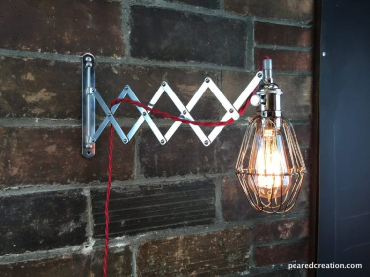 Industrial Wall Sconce - Scissor Lamp - wall-lights-sconces