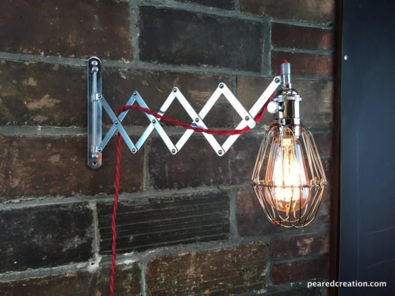 Industrial Wall Sconce Scissor Lamp Id Lights