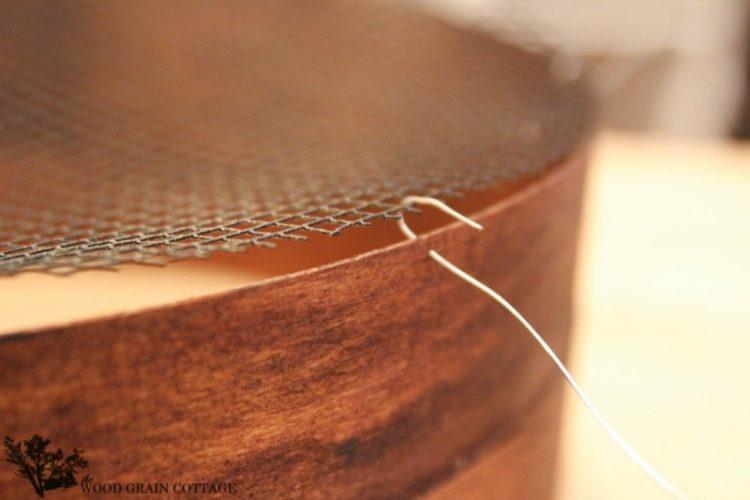Grain Sieve Wood Light Fixture Chandelier Tutorial Pendant Lighting