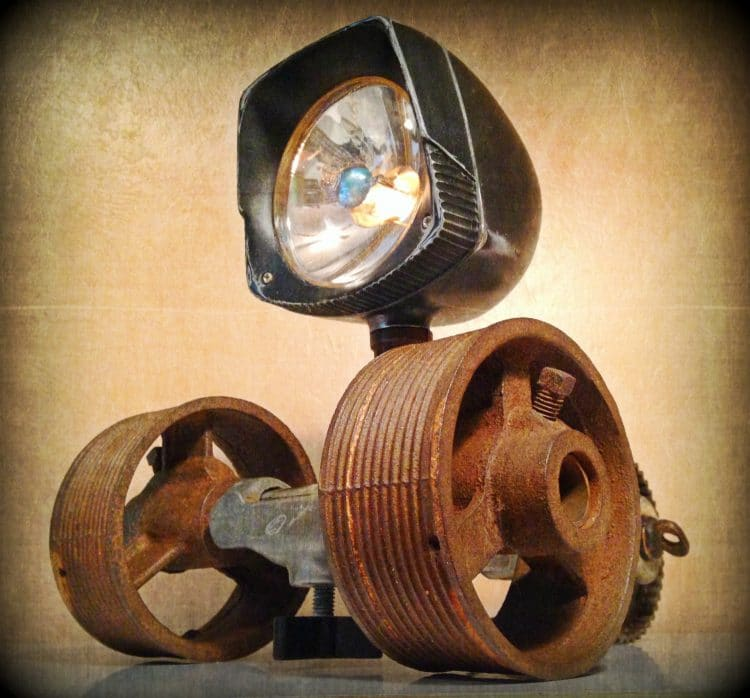 Look at this cute Steampunk Desk lamp! Table Lamps
