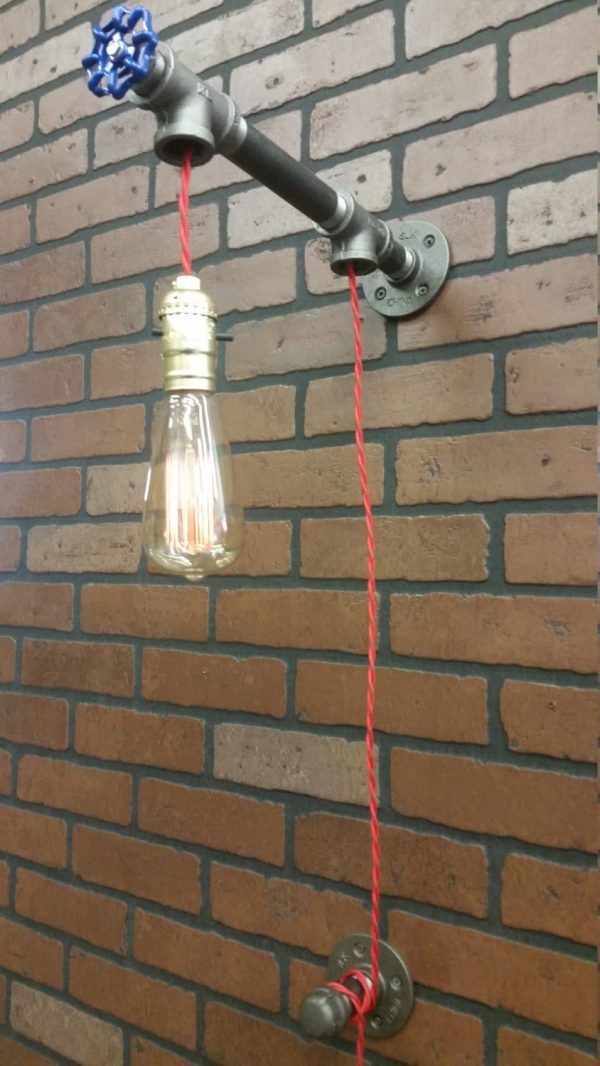 Nice Bathroom Lighting with Recycled Tap