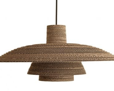 Recycled Cardboard Chandelier