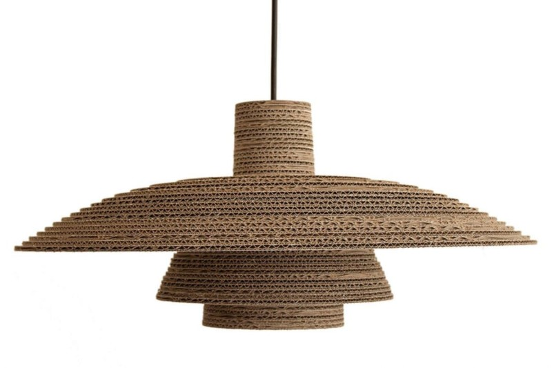 Recycled Cardboard Chandelier Id Lights
