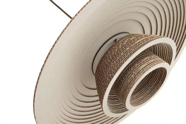 Recycled Cardboard Chandelier Pendant Lighting