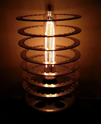 Vintage Filament Motorcycle Table Lamp