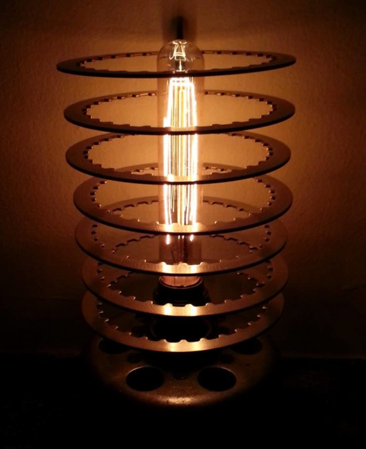 Vintage Filament Motorcycle Table Lamp Table Lamps