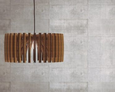 Wood Pendant Light lasercut Chandelier