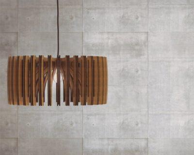 Wood Pendant Light Lasercut Chandelier