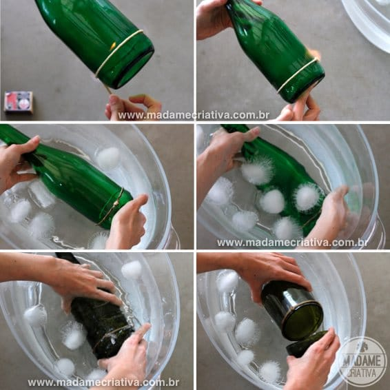 Easy Table Lamp Crafts for Christmas: Candle in a Wine Bottle - table-lamps