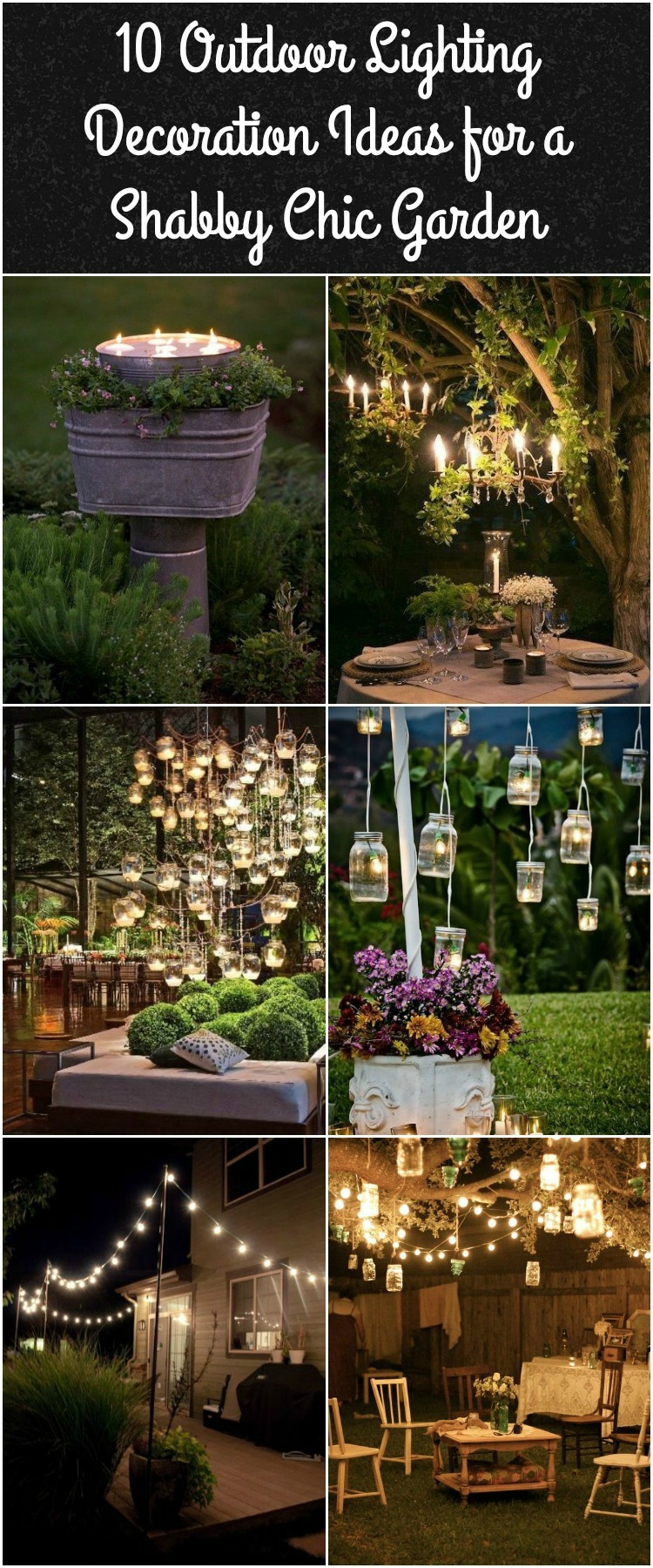10 outdoor lighting ideas for a shabby chic garden 6 is lovely. Black Bedroom Furniture Sets. Home Design Ideas