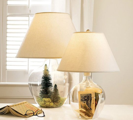 7 Glass Fillable Lamp Ideas Id Lights