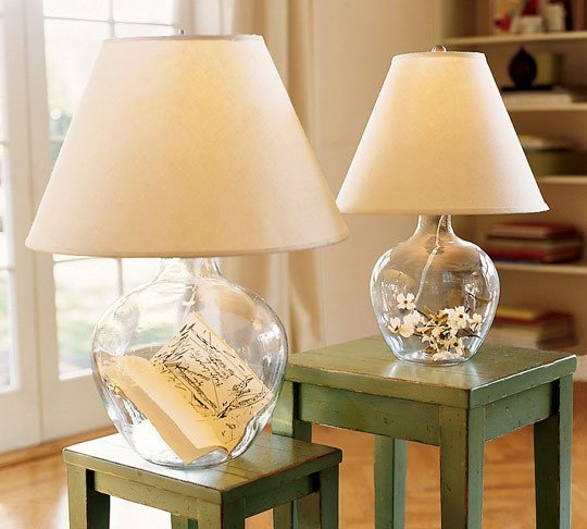 7 Glass Fillable Lamp Ideas