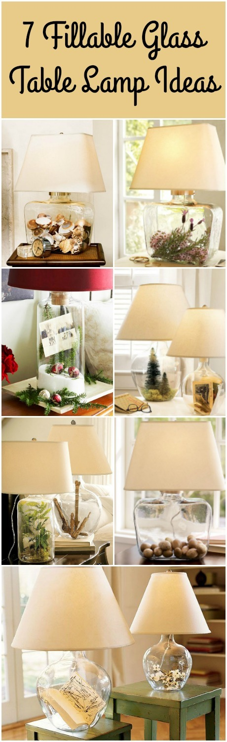 7 Glass Fillable Lamp Ideas - wood-lamps, table-lamps