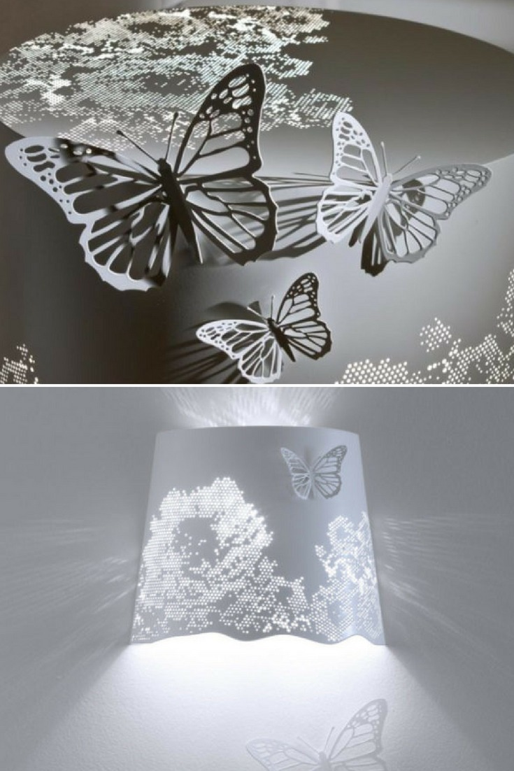 A bright explosion of Butterflies as Floor Lamp - wall-lights-sconces, floor-lamps