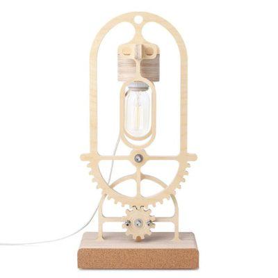 Beautiful Wooden Gear Lamp