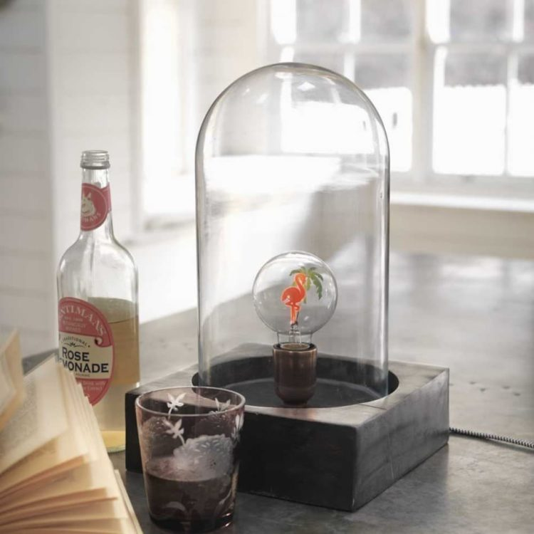 Bell Jar Table Lamp - wood-lamps, table-lamps