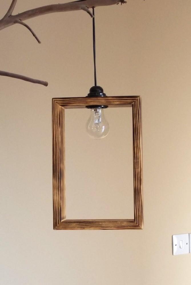 Cute Minimal Wooden Pendant Lighting shade - wood-lamps, pendant-lighting