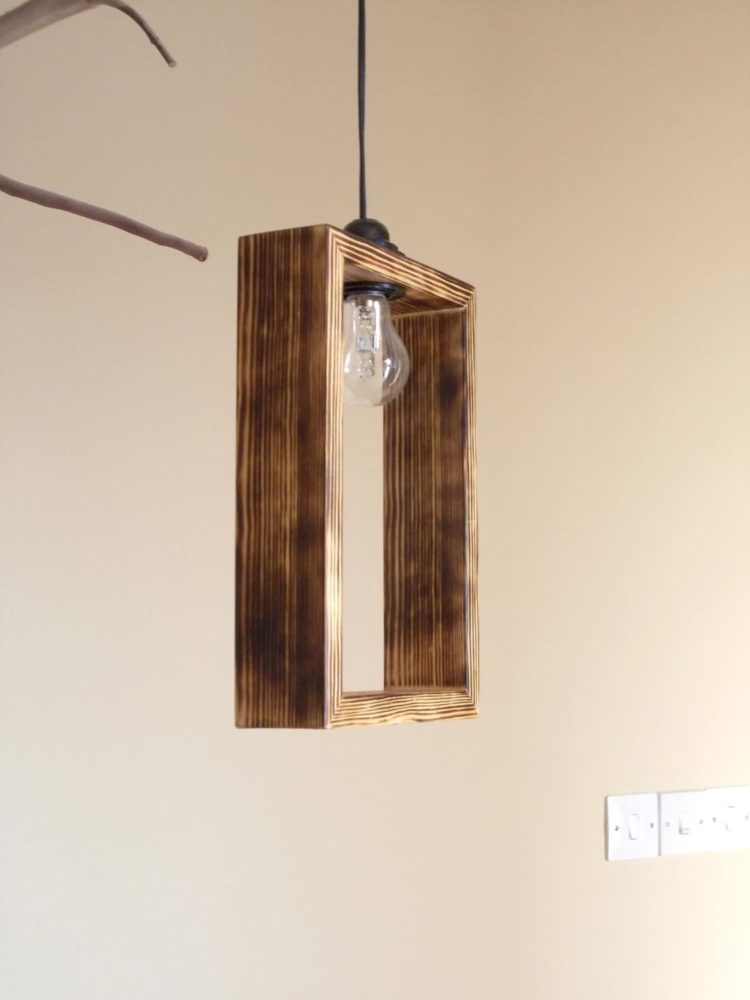 Cute Minimal Wooden Pendant Lighting shade • iD Lights