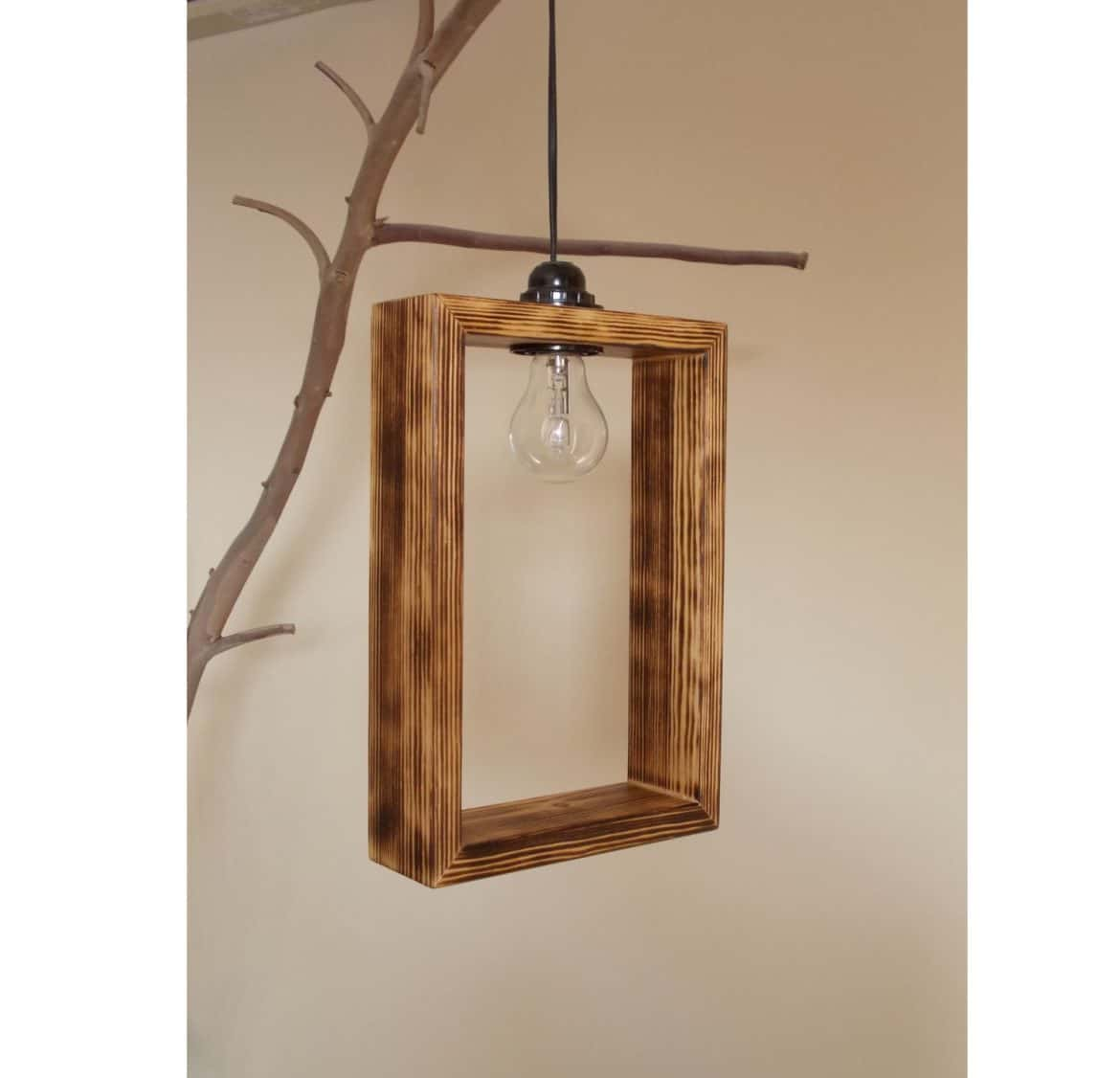 Cute Minimal Wooden Pendant Lighting Shade