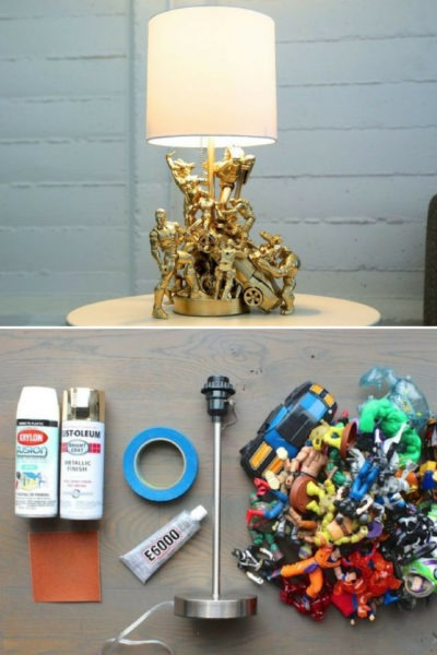 DIY Action Figure Table Lamp : Tutorial & Video