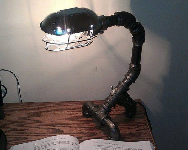 Diy How Lamp With Recycled Pipe Parts Id Lights