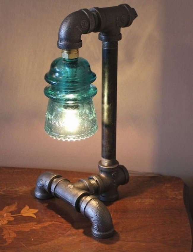 DIY: How to Make Pipe Lamp - desk-lamps