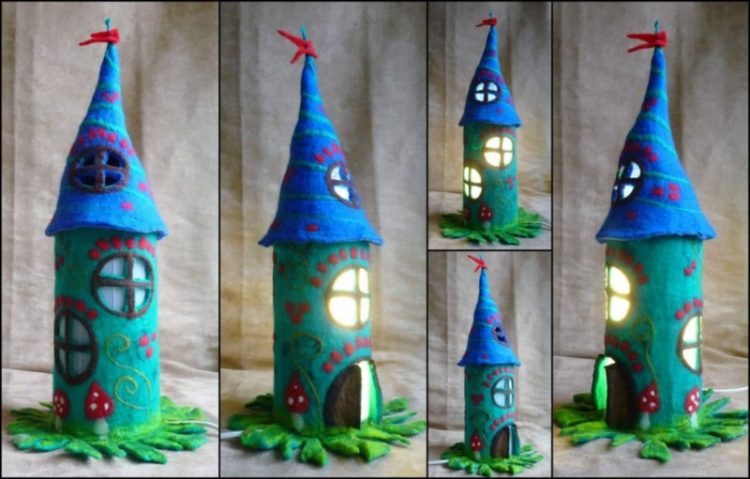 Felted Fairy Table Lamp - table-lamps