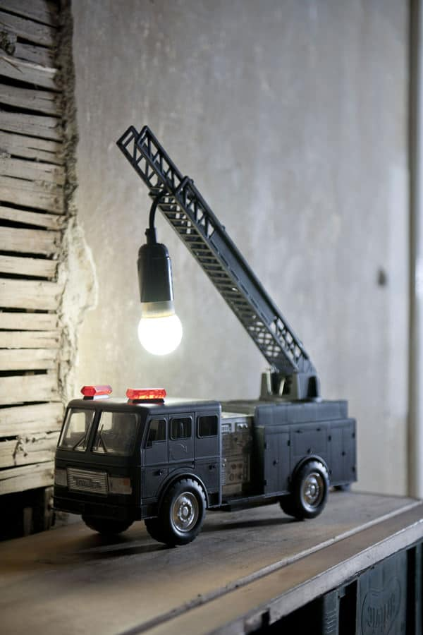 DIY Fire Truck Table Lamp - table-lamps