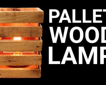 Homemade Pallet Wood Lamp