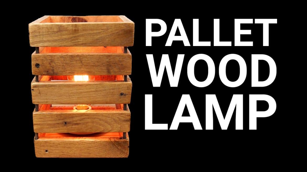 Nice Homemade Pallet Wood Table Lamp Video Tutorial Id