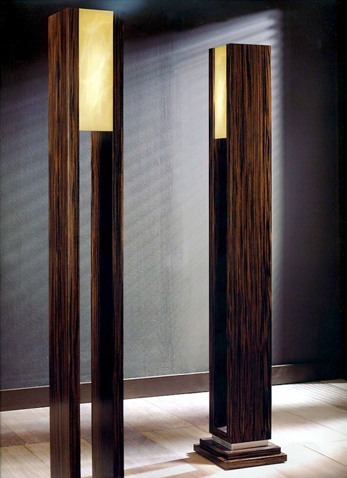 La Macassar Wood Floor Lamp - wood-lamps, floor-lamps