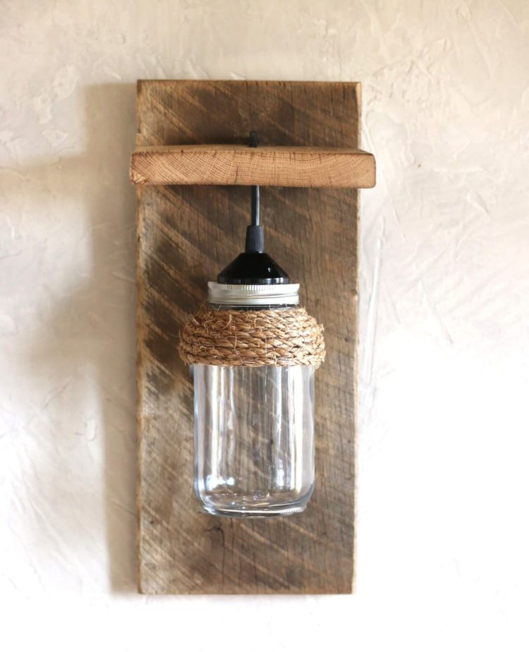 Mason Jar Light Wall Fixture
