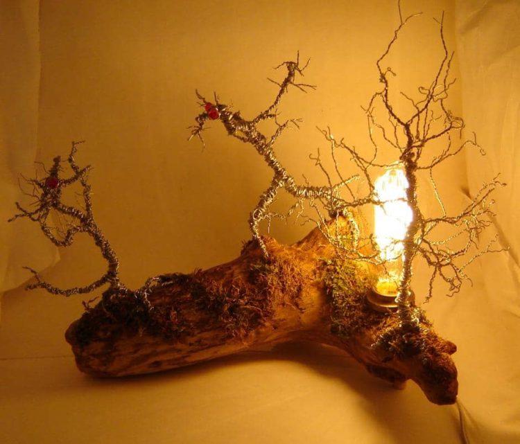 Original Driftwood Desk Lamp - wood-lamps, table-lamps