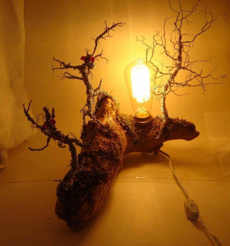 Original Driftwood Desk Lamp Table Lamps Wood Lamps