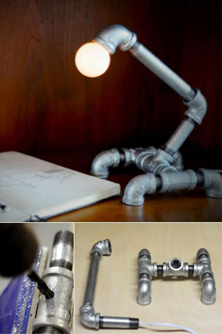 Pipe Lamp Diy With Recycled Pipe Parts Id Lights