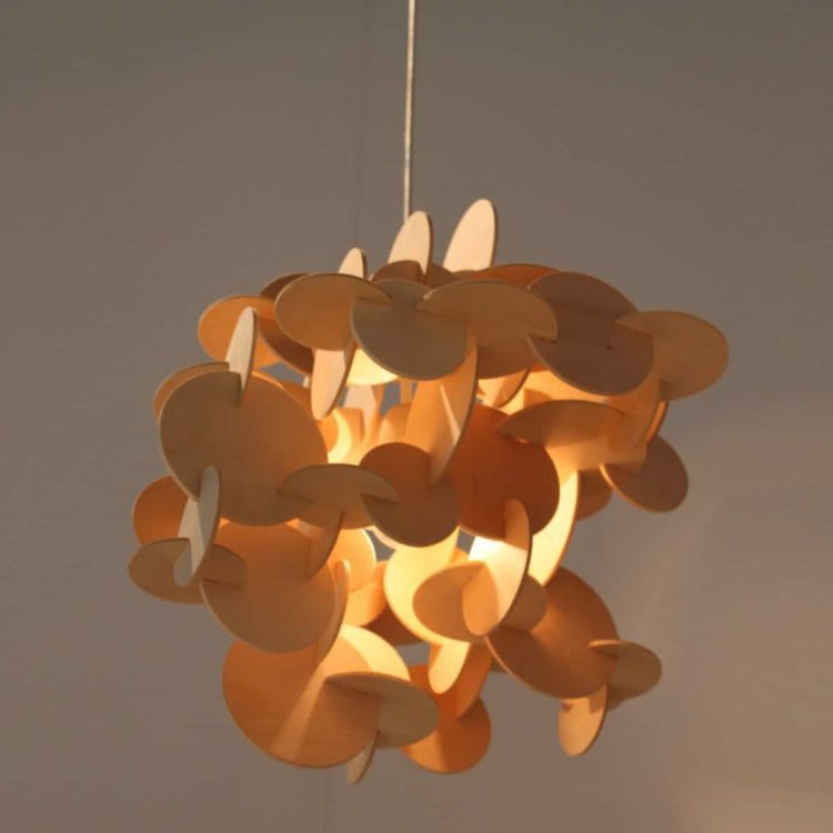 Sculptural Wood Chandelier Pendant Lighting - wood-lamps, pendant-lighting