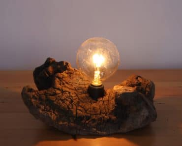 Simple Wooden Desk Lamp #1