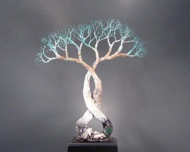 Wire Tree Of Life Soul Mates sculpture